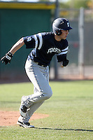 D.C. Arendas #23 of Forsyth Country Day School (N.C.)  plays against Spanish Fork High School (Ut.) in the Big League Dugout tournament at Horizon High School on March 30, 2011 in Scottsdale, Arizona..Photo by:  Bill Mitchell/Four Seam Images