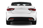 Straight rear view of a 2015 Chrysler 200 S 4 Door Sedan 2WD Rear View  stock images
