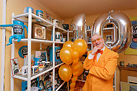 Pictured: Captain Beany inside his museum. Sunday 27 January 2019<br /> Re: 10 year anniversary of the Baked Bean Museum of Excellence, owned by Captain Beany (real name Barry Kirk) in a Council flat in Port Talbot, south Wales, UK.