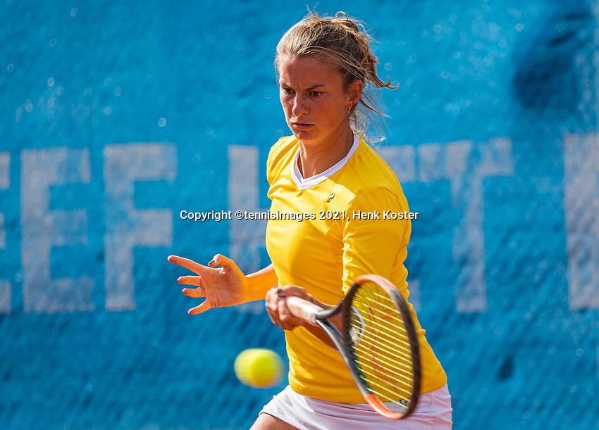 Amstelveen, Netherlands, 6 Juli, 2021, National Tennis Center, NTC, Amstelveen Womans Open, Doubles: Quirine Lemoine (NED) <br /> Photo: Henk Koster/tennisimages.com