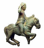 BNPS.co.uk (01202 558833)<br /> Pic: Hansons/BNPS<br /> <br /> Equestrian statuette of the God Mars<br /> <br /> Two metal detectorists are today celebrating after a 'nationally important' Roman bronze hoard of artefacts they dug up sold for £240,500<br /> <br /> James Spark and Mark Didlick uncovered the bust of emperor Marcus Aurelius last year alongside a statuette of the god of Mars on horseback, a horse-head knife handle and a large bronze pendulum.<br /> <br /> The immaculately preserved items were buried in a field in Ryedale, North Yorks, as an offering to the gods as part of a Roman religious ceremony in about 160AD.