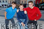 James Sheehan (Kilflynn), Darragh Reen (Farmers Bridge) and Cian Donnellan (Churchill) after receiving their Leaving Cert results.