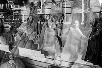 Shop windows in Roosevelt Av. / Elmhurst, Queens, New York.