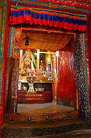 Chapel dedicated to the Lord of Death, Dorje Jigje, protector of the Gelugpa Buddhist order at Ngagpa College, Drepung Monastery, Lhasa, Tibet, China.