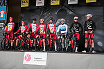 Cofidis on stage at the Team Presentation before the 78th edition of Paris-Nice 2020, Plaisir, France. 8th March 2020.<br /> Picture: ASO/Fabien Boukla | Cyclefile<br /> All photos usage must carry mandatory copyright credit (© Cyclefile | ASO/Fabien Boukla)