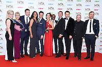 Casualty Cast<br /> in the winners room at the National TV Awards 2017 held at the O2 Arena, Greenwich, London.<br /> <br /> <br /> ©Ash Knotek  D3221  25/01/2017