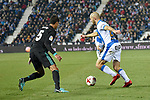 Leganes Nordin Amrabat vs Real Madrid Raphael Varane  during Copa del Rey  match. A quarter of final go. 20180118.