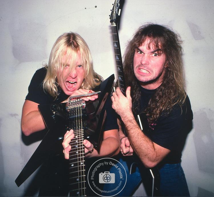 Slayer, Jeff Hanneman, Kerry King, Photo By David Plastik/IconicPix 1988 Los Angeles
