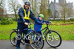 Noel and Noah O'Sullivan enjoying a cycle in the Killarney National park on Sunday