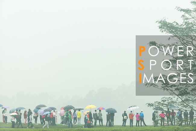 Rain and haze at the 13th hole during Round 4 of the World Ladies Championship 2016 on 13 March 2016 at Mission Hills Olazabal Golf Course in Dongguan, China. Photo by Victor Fraile / Power Sport Images