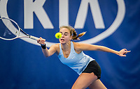 Amstelveen, Netherlands, 18  December, 2020, National Tennis Center, NTC, NK Indoor, National  Indoor Tennis Championships,   :   Bente Spee (NED) <br /> Photo: Henk Koster/tennisimages.com