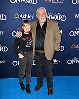 "LOS ANGELES, CA: 18, 2020: John Ratzenberger & Kaylin Hayman at the world premiere of ""Onward"" at the El Capitan Theatre.<br /> Picture: Paul Smith/Featureflash"