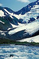 river at base of glacier. Alaska.