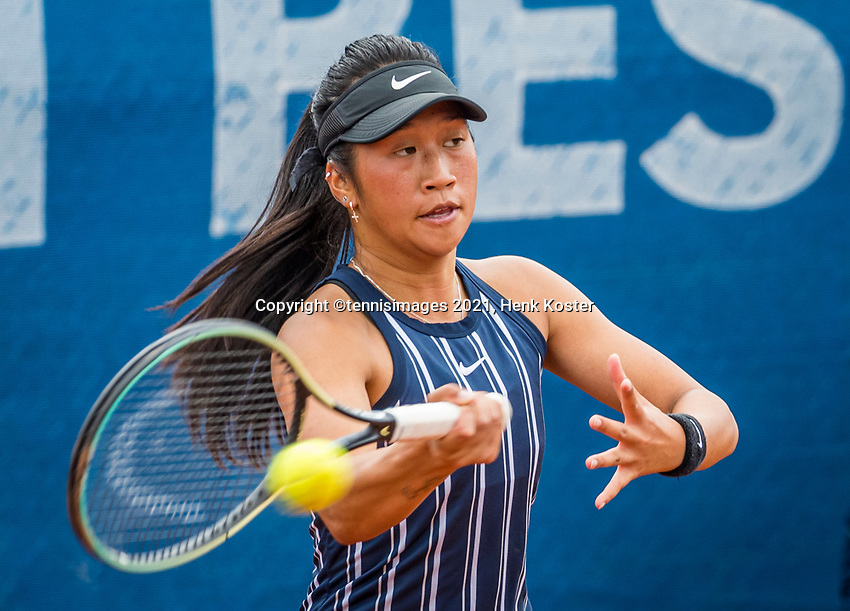 Amstelveen, Netherlands, 5  Juli, 2021, National Tennis Center, NTC, Amstelveen Womans Open, Demi Tran (NED)<br /> Photo: Henk Koster/tennisimages.com