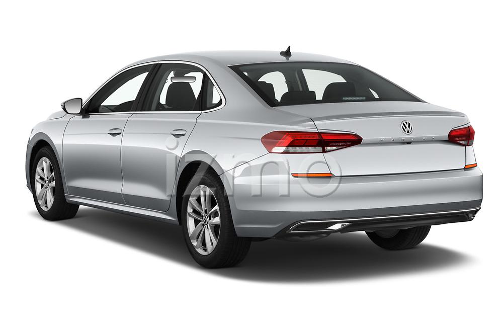 Car pictures of rear three quarter view of 2020 Volkswagen Passat SE 4 Door Sedan Angular Rear