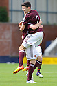 Callum Paterson celebrates after he scores Hearts' first