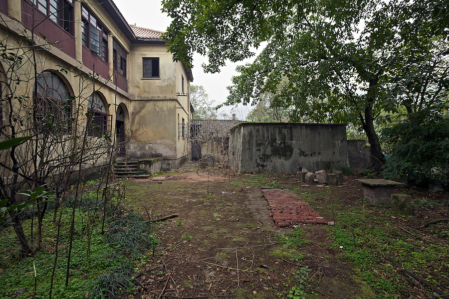 Side View Of The Former Residence In Chongqing (Chungking).