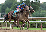 July 28, 2021:  Bell's the One #9, ridden by jockey Corey Lanerie wins the Honorable Miss Handicap  (Grade 2) at Saratoga Race Course in Saratoga Springs, N.Y. on July 28, 2021. <br /> Robert Simmons/Eclipse Sportswire/CSM