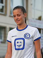 Shari Van Belle (8) of AA Gent pictured before a female soccer game between FC Femina White Star Woluwe and KAA Gent Ladies on the third match day in the 2021 - 2022 season of Belgian Scooore Womens Super League , Friday 3 th of September 2021  in Woluwe , Belgium . PHOTO SPORTPIX   SEVIL OKTEM