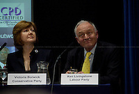 Victoria Borwick and Ken Livingston, British politicians - 2012<br />