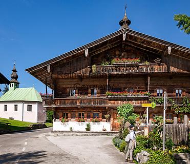 Oesterreich, Tirol, Kurzer Grund, Marktgemeinde Hopfgarten im Brixental: Rotte Kelchsau   Austria, Tyrol, Kurzer Grund, Marktgemeinde Hopfgarten im Brixental: Rotte Kelchsau