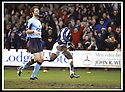 25/1/03       Copyright Pic : James Stewart                  .File Name : stewart-falkirk v hearts 10.COLLIN SAMUEL STARTS HIS CELEBRATION AFTER HE SCORES FALKIRK'S SECOND GOAL........James Stewart Photo Agency, 19 Carronlea Drive, Falkirk. FK2 8DN      Vat Reg No. 607 6932 25.Office : +44 (0)1324 570906     .Mobile : + 44 (0)7721 416997.Fax     :  +44 (0)1324 570906.E-mail : jim@jspa.co.uk.If you require further information then contact Jim Stewart on any of the numbers above.........