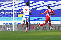 Jacob Brown of Stoke City scores the third goal into an empty net during Reading vs Stoke City, Sky Bet EFL Championship Football at the Madejski Stadium on 7th November 2020