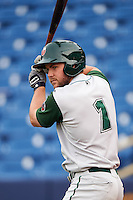 Fort Wayne TinCaps outfielder Michael Gettys (1) on deck during a game against the Lake County Captains on May 20, 2015 at Classic Park in Eastlake, Ohio.  Lake County defeated Fort Wayne 4-3.  (Mike Janes/Four Seam Images)