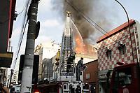 26.12.2019 - Incêndio na rua General Osório em SP