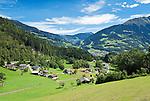 Austria, Vorarlberg, Montafon, Schruns: view over resort | Oesterreich, Vorarlberg, Montafon, Schruns: Urlaubssort und Hauptort des Montafons, Uebersicht