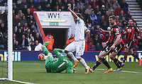 Alberto Palosch of Swansea City sees his shot saved during the Barclays Premier League match between AFC Bournemouth and Swansea City played at The Vitality Stadium, Bournemouth on March 12th 2016