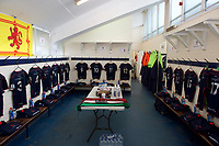 The dressing room before the Greene King IPA Championship match between London Scottish Football Club and Rotherham Titans at Richmond Athletic Ground, Richmond, United Kingdom on 7 April 2018. Photo by Alan  Stanford/PRiME Media Images.