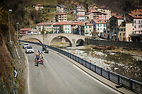 the breakaway group<br /> <br /> 110th Milano-Sanremo 2019 (ITA)<br /> One day race from Milano to Sanremo (291km)<br /> <br /> ©kramon