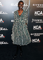 NEW YORK CITY, NY, USA - OCTOBER 30: Alek Wek arrives at the 11th Annual Keep A Child Alive Black Ball held at the Hammerstein Ballroom on October 30, 2014 in New York City, New York, United States. (Photo by Celebrity Monitor)