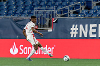 FOXBOROUGH, MA - AUGUST 21: Ivan Magalhaes #4 of Richmond Kickers passes the ball during a game between Richmond Kickers and New England Revolution II at Gillette Stadium on August 21, 2020 in Foxborough, Massachusetts.