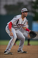 Lake Elsinore Storm third baseman Hudson Potts (15) during a California League game against the Modesto Nuts at John Thurman Field on May 12, 2018 in Modesto, California. Lake Elsinore defeated Modesto 4-1. (Zachary Lucy/Four Seam Images)