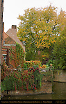 Erasmus Hotel Terrace, Rozenhoedkaai Red Hat Quay, Bruges, Brugge, Belgium