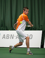 18-01-14,Netherlands, Rotterdam,  TC Victoria, Wildcard Tournament,    Milco Trampe (NED)<br /> Photo: Henk Koster