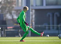goalkeeper Peder Hoel Lervik (1) of Norway pictured during a soccer game between the national teams Under17 Youth teams of  Norway and Luxemburg on day 2 in the Qualifying round in group 3 on saturday 9 th of October 2020  in Tubize , Belgium . PHOTO SPORTPIX   DAVID CATRY