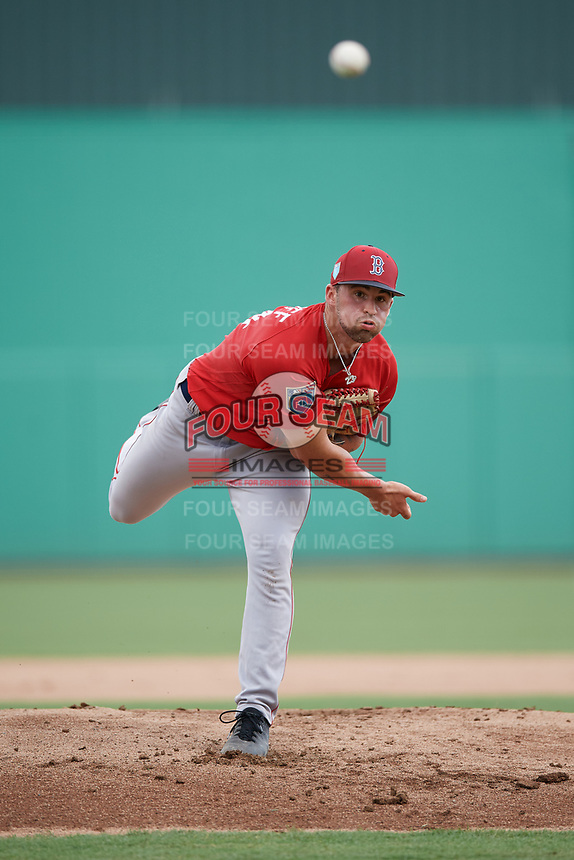 Boston Red Sox pitcher Alex Scherff (54) delivers a pitch during a Florida Instructional League game against the Baltimore Orioles on September 21, 2018 at JetBlue Park in Fort Myers, Florida.  (Mike Janes/Four Seam Images)