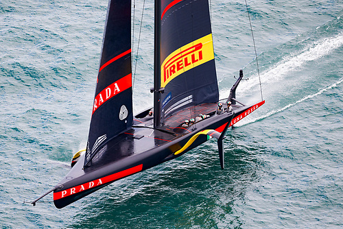 A positive day for the Challenger of Record of Luna Rossa Prada Pirelli as the Italians took a nerve wracking win against American Magic