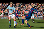 Jordi Alba of FC Barcelona (R) in action against Daniel Wass of RC Celta de Vigo (L) during the La Liga 2017-18 match between FC Barcelona and RC Celta de Vigo at Camp Nou Stadium on 02 December 2017 in Barcelona, Spain. Photo by Vicens Gimenez / Power Sport Images