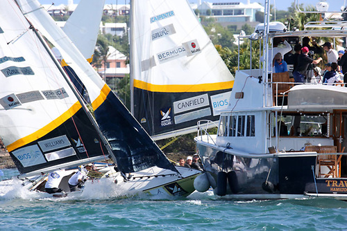 The big collision in Race 2 was the critical moment of the World Match Racing Championships