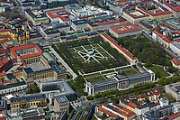aerial photograph of the Hofgarten, Court Garden, Munich, Bavaria, Germany | Luftbild Hofgarten, München, Deutschland