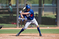 Donovan Casey (48) of the Los Angeles Dodgers at bat during an Instructional League game against the Chicago White Sox on September 30, 2017 at Camelback Ranch in Glendale, Arizona. (Zachary Lucy/Four Seam Images)