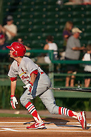 Ryan Jackson of the Palm Beach Cardinals during the game at Jackie Robinson Ballpark in Daytona Beach, Florida on July 30, 2010. Photo By Scott Jontes/Four Seam Images