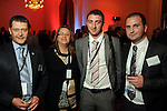 From left: Neil Levett, Brenda Homewood, Mike Cramp and Gareth Rapley at the UK Energy Excellence reception at the Hilton Post Oak Hotel Monday April 30,2012. (Dave Rossman Photo)