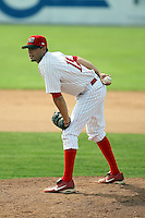 August 20th, 2007:  Phil Anderson of the Batavia Muckdogs, Short-Season Class-A affiliate of the St. Louis Cardinals at Dwyer Stadium in Batavia, NY.  Photo by:  Mike Janes/Four Seam Images