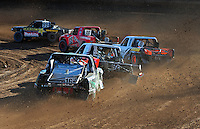 Dec. 10, 2011; Chandler, AZ, USA;  LOORRS pro lite driver Kyle Leduc (99) leads the field during round 15 at Firebird International Raceway. Mandatory Credit: Mark J. Rebilas-