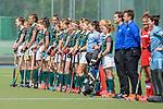 Mannheim, Germany, May 02: During the 1. Bundesliga women fieldhockey match between Mannheimer HC (red) and Uhlenhorst Muelheim (green) on May 2, 2021 at Am Neckarkanal in Mannheim, Germany. Final score 4-0 (HT 1-0). (Copyright Dirk Markgraf / www.265-images.com) ***